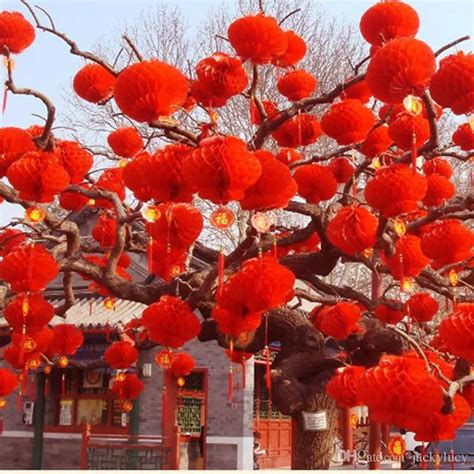 asian wedding home decorations new arrival 615cm red chinese paper lanterns for wedding