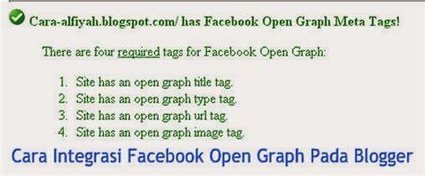 membuat facebook open graph cara integrasi facebook open graph pada blogger alfiyah