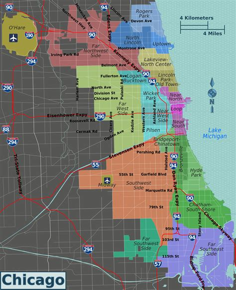 chicago on the map file integrated chicago districts map png