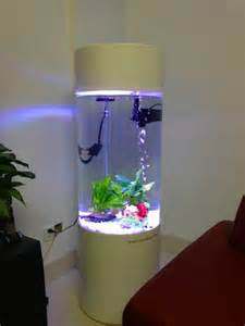 aquarium rond led light shape cleair acrylic aquarium view