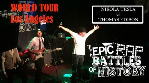 Epic Rap Battles Of History Edison Vs Tesla Nikola Tesla Vs Edison Epic Rap Battles Of