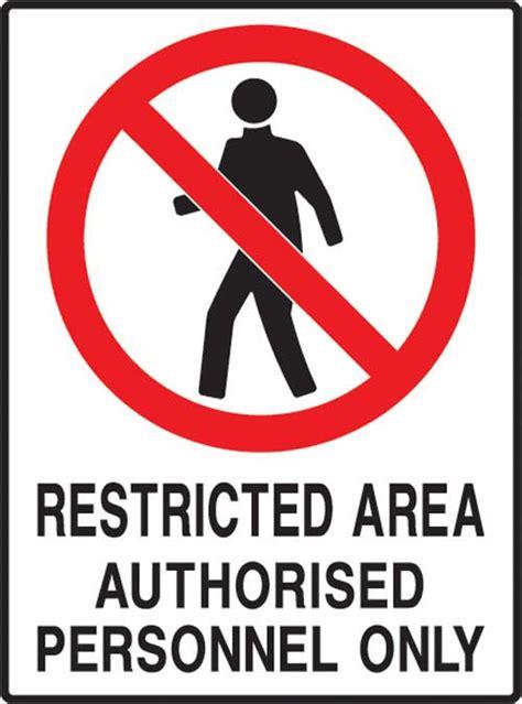 restricted hazardous area