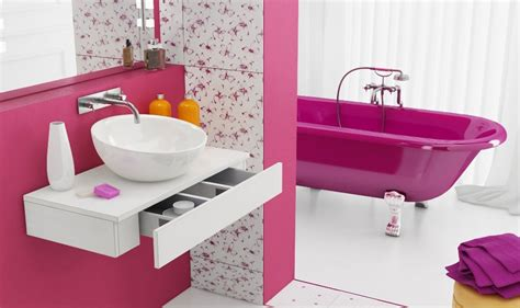 pink bathtub decorating ideas pink bathroom interior design ideas