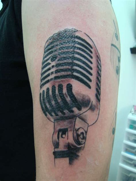 microphone wings tattoo mic tattoo
