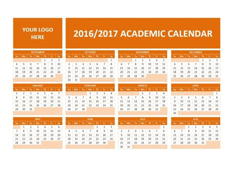 free school calendar template 2016 2017 school calendars