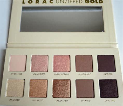 Lorac Unzipped Gold lorac unzipped gold eyeshadow palette review