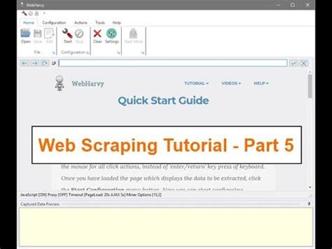 tutorial on web scraping web scraping tutorial using webharvy using regular