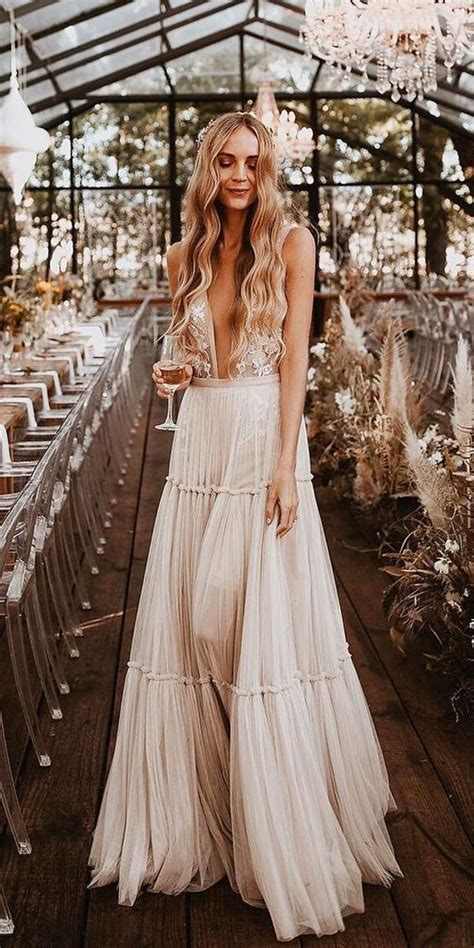 boho wedding dress ideas   big day poptop event planning guide