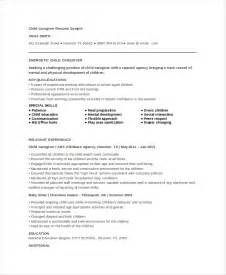 caregiver resume daycare resume objective sle child