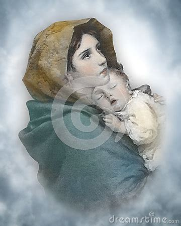 nativity christmas madonna stock  image
