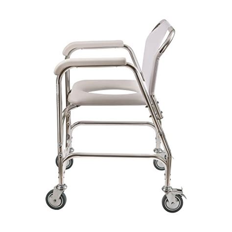 rolling shower chair with padded seat mabis duro med shower transport chair toilet place seat