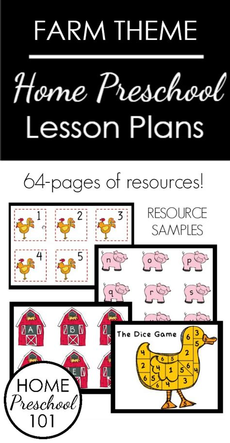 farm theme home preschool lesson plan home preschool 101