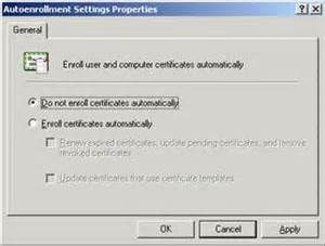 update certificates that use certificate templates troubleshooting autoenrollment xdot509
