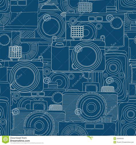 vintage pattern sketch vintage camera pattern sketch stock illustration image