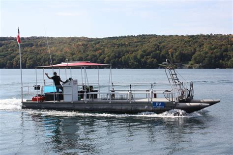 pontoon dive boat national aquatic service central new york scuba diver life