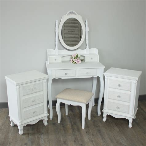 white heart bedroom furniture toulouse range furniture bundle dressing table mirror