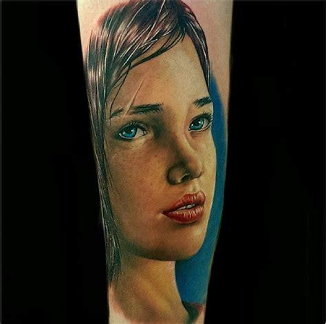 last of us ellie tattoo ellie from the last of us looks killer as a tattoo
