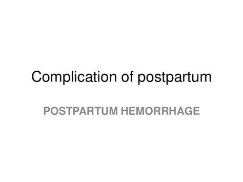 postpartum c section complications 9 complication of postpartum