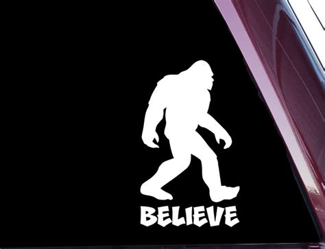Ea Cutting Sticker Decal Code Ch Al001o sasquatch bigfoot believe die cut decal sticker not printed a 56