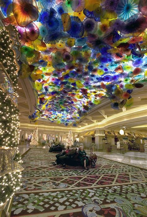 Glass Ceiling Lobbies by Bellagio Glass Ceiling By Dale Chihuly