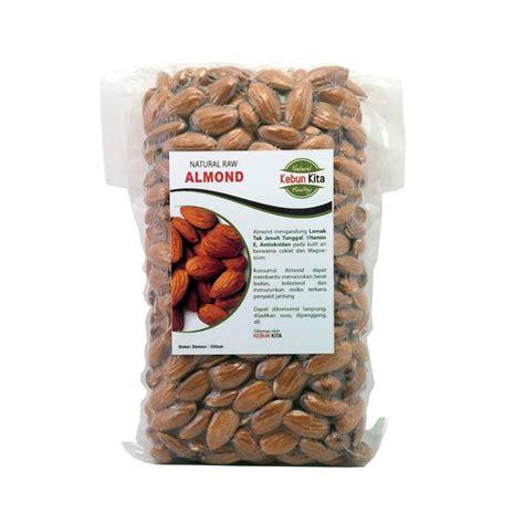 Makanan Kacang jual kacang almond mentah kupas kulit makanan kering 500 g harga kualitas terjamin