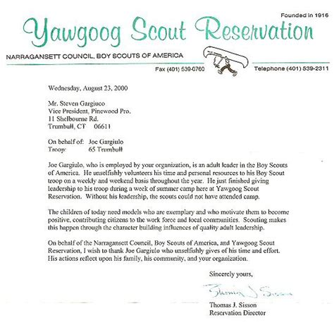 Fundraising Letter For Boy Scouts Bsa Cub Scout Donations