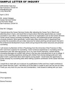 inquiry letter sle for free formtemplate