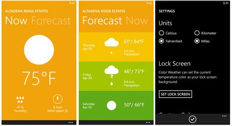 weather color color weather a simple but colorful forecast app for