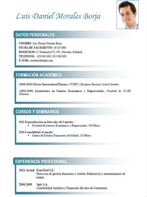 Plantillas De Curriculum Vitae En Frances Cv Frances De Econom 237 A Administracion Gesti 243 N 5 Cvexpres