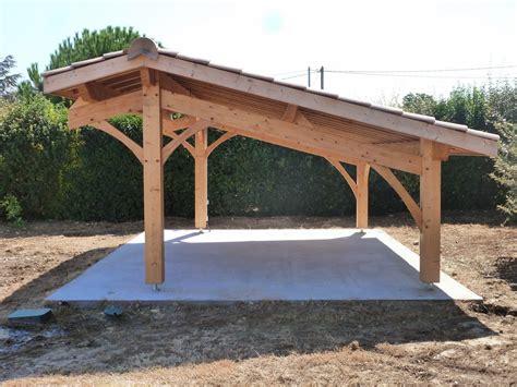 Construire Garage En Bois by Construire Un Carport Bois