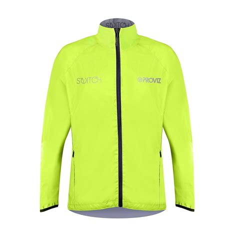mens reflective cycling switch men s cycling jacket yellow reflective reversible