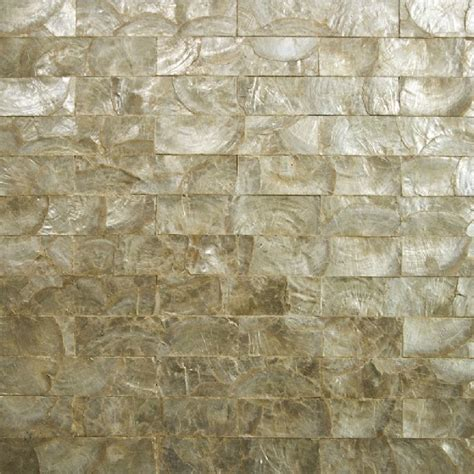 gold of pearl tile backsplash sea shell mosaic wall