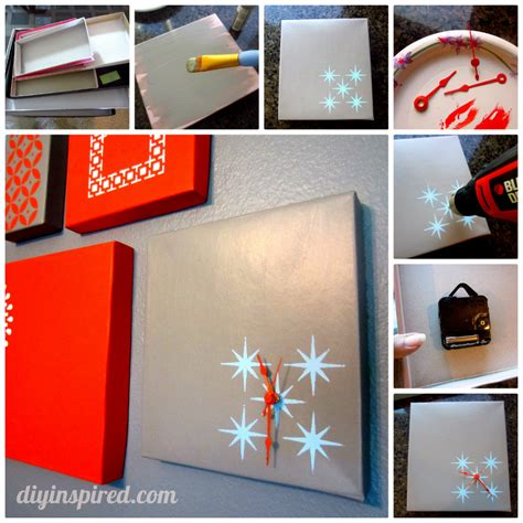 shoe box diy shoe box lid clock diy inspired