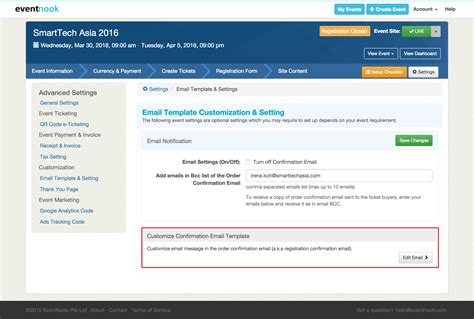Can I Customize The Registration Confirmation Email Registration Email Template