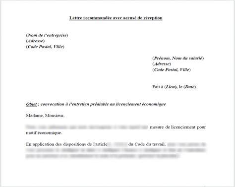 Exemple De Lettre Licenciement économique Convocation 224 L Entretien Pr 233 Alable De Licenciement 233 Conomique Le Droit Pour Moi