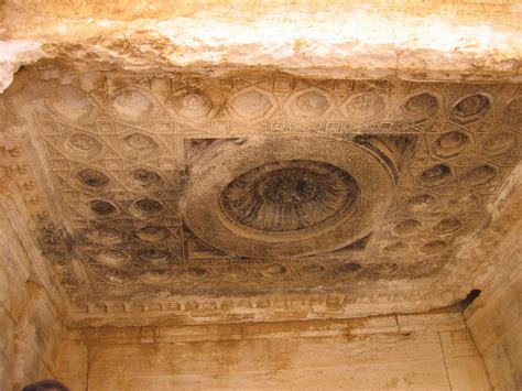 decorated ceiling file decorated ceiling in the inner temple of bel the