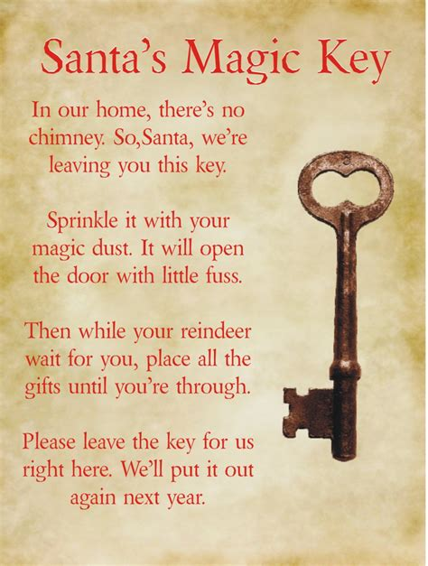 printable santa key template no chimney no problem just get a magic santa claus key