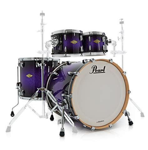 Black Master Purple Coklat pearl mcx masters 22 am fusion shell pack purple sparkle fade at gear4music