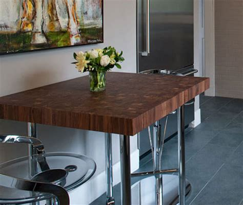 Countertop Table by Custom Butcher Block Dining Tables Kitchen Tables And