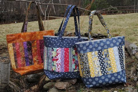 Patchwork Tote Bag Pattern - weekend warriors 7 quilted bag patterns