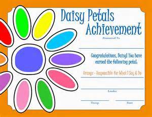 keeping up with the kiddos daisy scout meeting orange petal