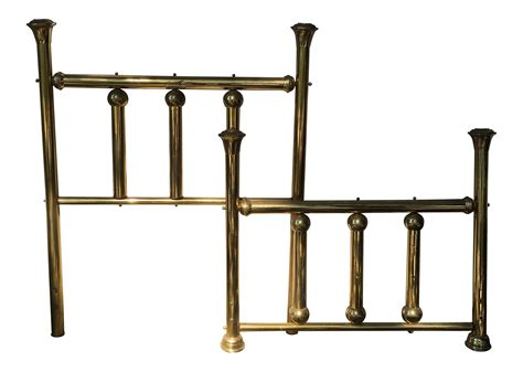 brass headboard vintage brass headboard footboard chairish
