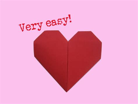 Fold Paper Hearts - fold easy way how to make a paper