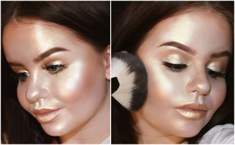 Check Out This Viral Full Face Highlighter Make Up Look