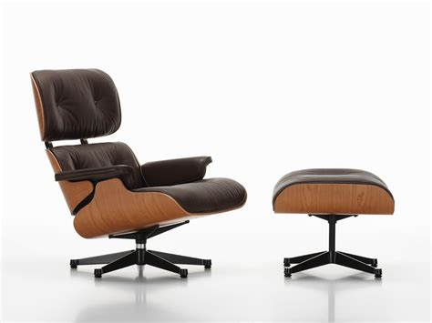 Buy The Vitra Eames Lounge Chair Ottoman American Cherry Vitra Eames Lounge Chair And Ottoman