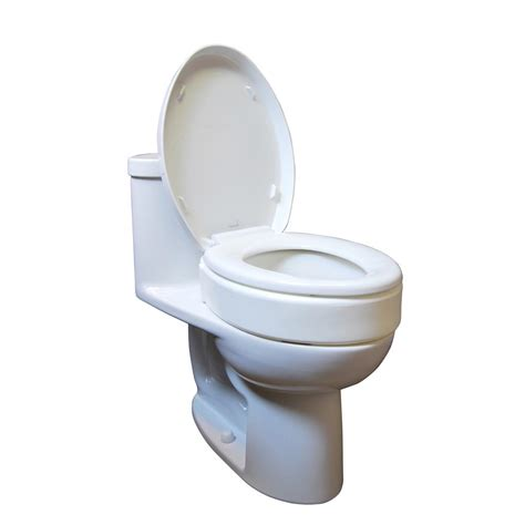 toilet seat risers 2 inch allows individual to use existing toilet seat and lid