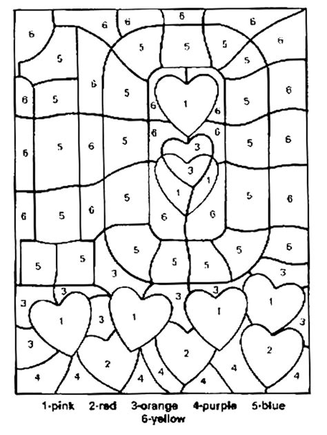 Free Printable Color By Number Coloring Pages Best Coloring Pages Color By Number
