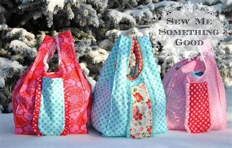 pattern for fabric grocery bags fold n roll shopping bag pdf sewing pattern sewing