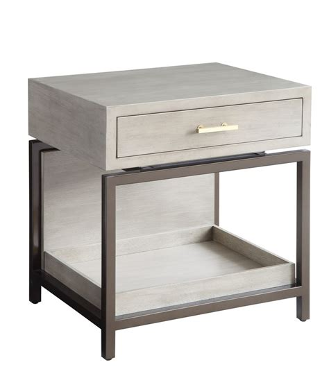 Small Nightstand Table Grey Small Nightstand With Drawer With Simple Forms And One Drawer This Modern Nightstand Or