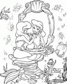 mermaid coloring pages coloringpagesabc